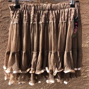 Tanga Pretty Ladies Gauze Lace Tutu in Khaki